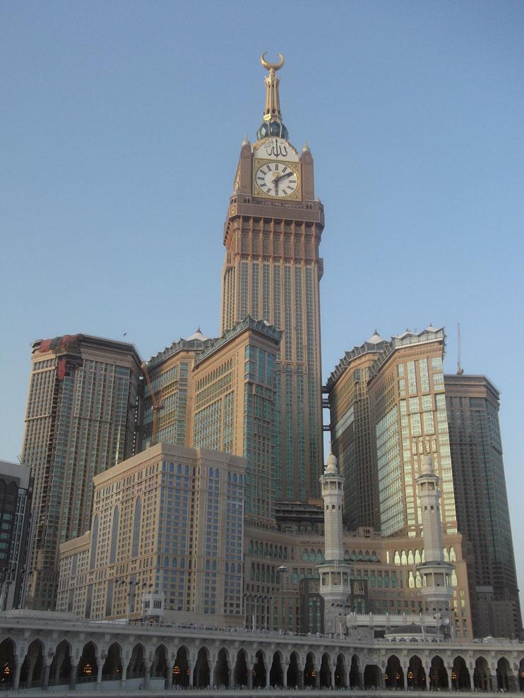 Makkah Royal Clock Tower con el hotel más alto del mundo Abraj al Bait