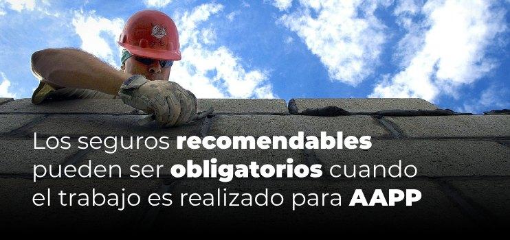 Seguros para profesionales de la construcción