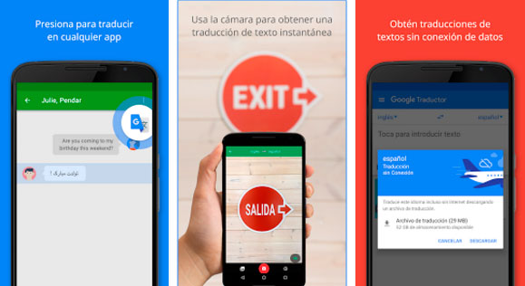 aplicaciones de viajes google translate