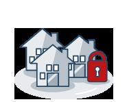 icono seguro de comunidades