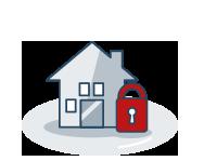 icono seguro de hogar