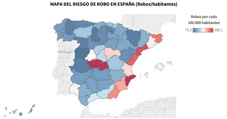 robo en hogares españoles